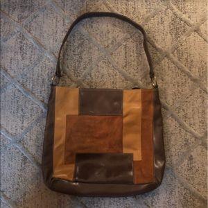 Vintage- Brown Nine West Patchwork Purse